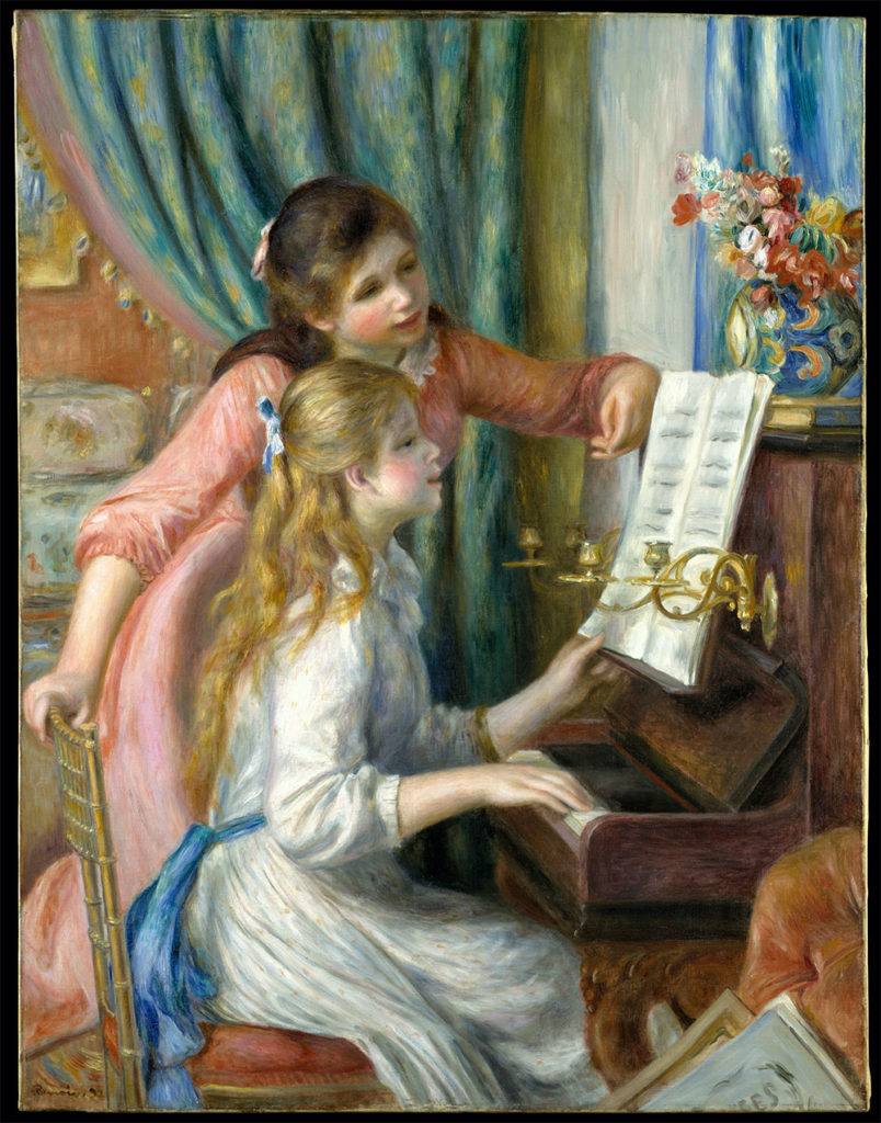 Two Young Girls at the Piano(Renoir)